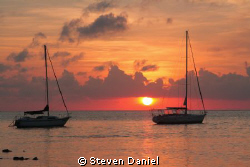 Ambris Caye sunrise by Steven Daniel 